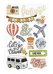 Hobbyfun Sticker Reisen, Bogen 13 x 18 cm