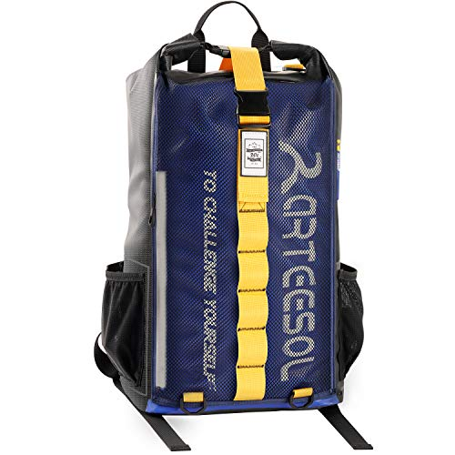 arteesol Mochila impermeable de 20 l, bolsa seca, mochila impermeable, mochila enrollable con doble correa para el hombro, para viajes diarios, canotaje, natación, camping, senderismo, playa (azul)
