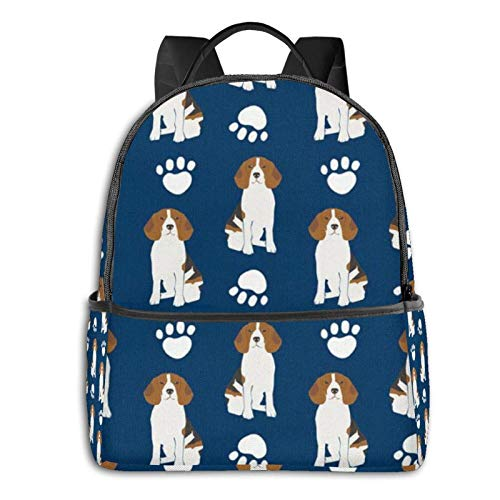 XCNGG Extra Large Backpack Durable Backpack Multipurpose Daypack for Sports Outdoors Running Travel Stylish Baseball Bone Basset Hound Puppy Pattern Laptop Backpack