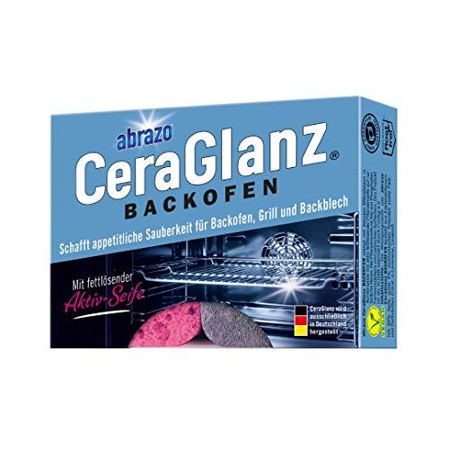 abrazo CeraGlanz BACKOFEN 2x antibakterieller, verseifter Reinigungs-Schwamm, Grillreiniger, Backofen-Reiniger für Küche