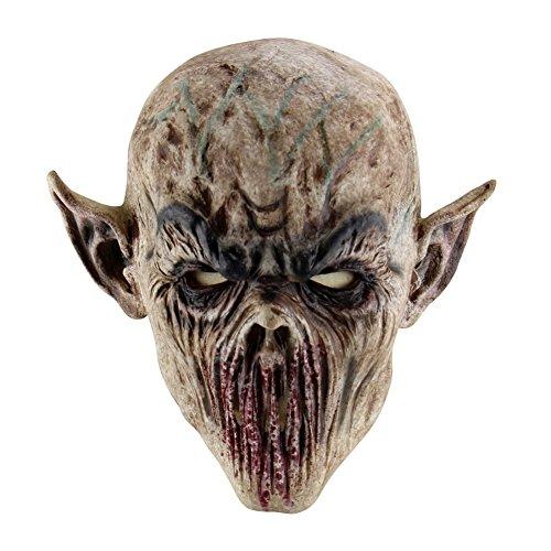 Qlan Halloween Horror Maske Latex Tierkopf Maske für Halloween Party Kostüm Dekorationen