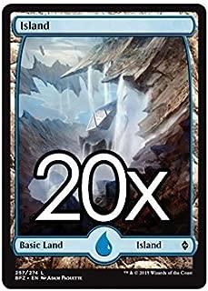 20 Battle for Zendikar Island #257 Magic the Gathering Basic FULL ART Land Lot