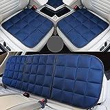 De seda del hielo del asiento de coche cubierta, asientos delanteros y traseros, asiento transpirable Pads Protección, adecuado para la mayoría de 5 plazas Coches,Azul