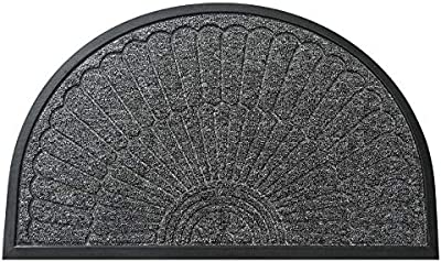 Household Bag pad Leiwenkai Entrance Into Semicircular Rubber Mats Wear Easy Care Commercial Home Home-Slip Rubber Doormat (Color : Doloba-Brown, Size : 60 * 90cm)