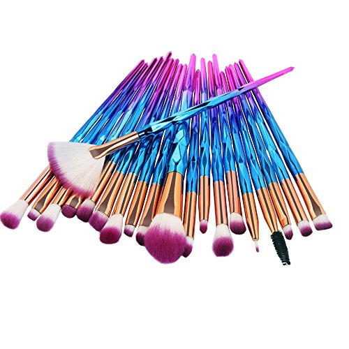 AMUSTER 20pcs Kosmetik Pinsel Make-up Pinsel Sets Verfassungs Bürsten Sat Kosmetik Komplett Eye Kit Make-up Pinsel Sets Kits Tools Werkzeuge Foundation Pinsel (One Size, C)
