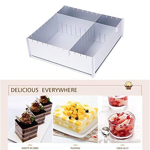 Adjustable Cake Tin, Aluminum Cake Baking Tray, Square Pizza Frame, Rectangular Baking Frame, Cake Pan, Multifunction Family Baking Mold