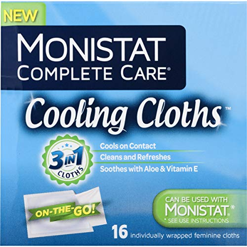 Monistat Care Cooling Cloths | Cools & Soothes | Paraben-Free | 16 Count | 3 Pack (Package may vary)