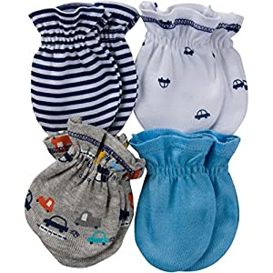 Gerber Baby Boys' 4-Pair Mittens by Gerber Children's Apparel