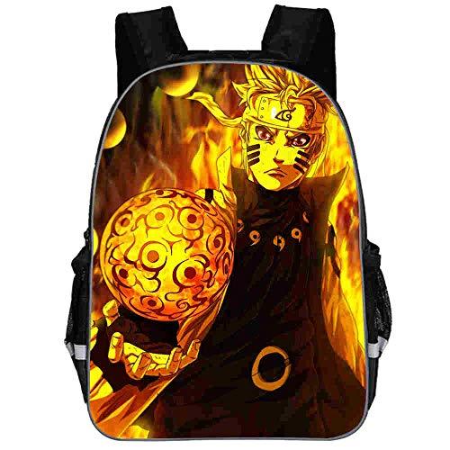 Naruto Leinwand Rucksack 3D Digitaldruck Naruto Schultasche Aufhellung Rucksack Lässig Rucksack Wasserdichte Daypack für Frauen und Männer
