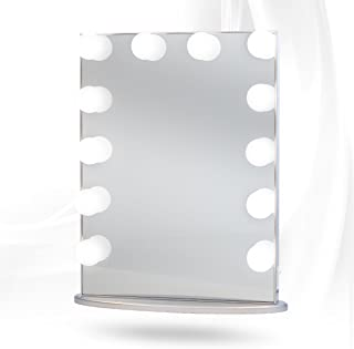 Hollywood Glow XL Vanity Mirror By Impressions Vanity Large (Silver w/LED)