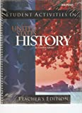 United States History for Christian Schools: Student Activities, Teacher's Edition