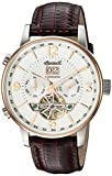 Ingersoll Men's The Grafton Automatic Watch with White Dial and Brown Leather Strap I00701