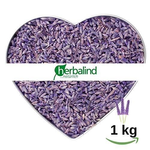 NATUR Premium Lavendel 1 kg Lavendelblüten getrocknet ohne Zusätze - Duftintensiv und naturbelassen, sonnen getrockneter Lavendel Blüten zum Füllen von Duftkissen, Duftsäckchen, Lavendelsäckchen