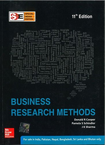 Compare Textbook Prices for Business Research Methods 11th Edition ISBN 9781259001857 by Donald Cooper and Pamela Schindler