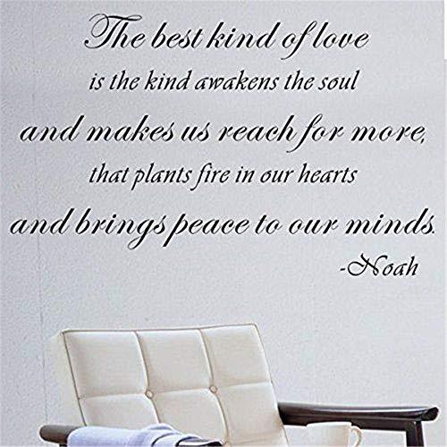 Wandtattoo Kinderzimmer Wandtattoo Schlafzimmer Die beste Art von Liebe ist die Art weckt die Seele und lässt uns mehr erreichen, dass Pflanzen Feuer in unseren Herzen für Wohnzimmer Schlafzimmer