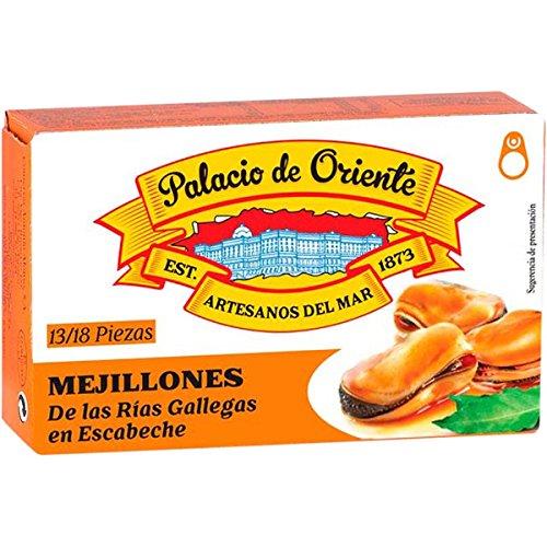 Mejillones en escabeche de Galicia Palacio de Oriente 13/18piezas - Pack de 10