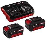 Original Einhell Starter Kit Akku und Ladegerät Power X-Change (Lithium Ionen, 18 V, 2x3,0 Ah Akku und Twincharger, passend für alle Power X-Change Geräte) (Generalüberholt)