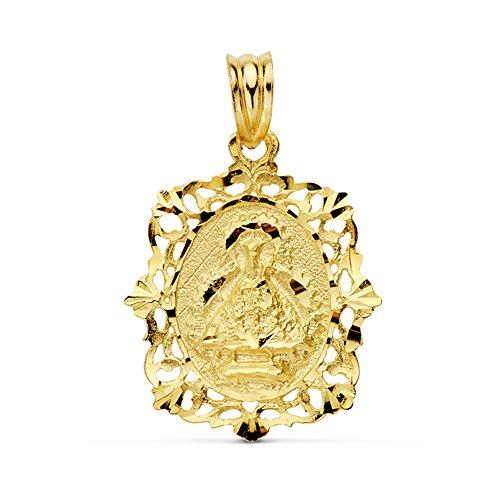 Alda Joyeros Medalla Virgen de la Cabeza 18 Ktes 26mm