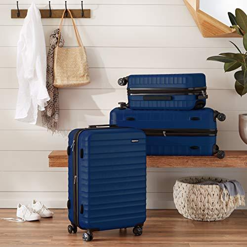 AmazonBasics Hardside Spinner Suitcase Luggage - Expandable with Wheels - 2-Piece Set, Navy Blue