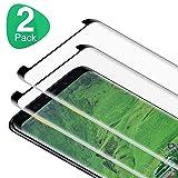 RIIMUHIR Protector de Pantalla Samsung Galaxy S8, [2 Piezas] 3D Cristal Templado para Samsung S8, 9H Dureza, Sin Burbujas, Antiarañazos, Fácil Instalación