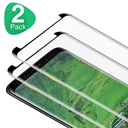 RIIMUHIR Vetro Temperato per Samsung Galaxy S8 Pellicola Protettiva, [2 Pezzi] Durezza 9H, Alta Definizione Pellicola Vetro, Anti Graffio Protezione Schermo, Pellicola Protettiva per Samsung S8