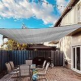 Dripex Sonnensegel Sonnenschutz Set inkl Befestigungsseile Rechteckig Wasserabweisend Polyester...