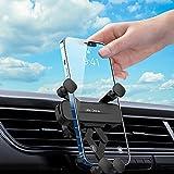 AUCHIKU Porta Cellulare Auto Universale 360 Gradi di Rotazione Ventilazione,Gravità Supporto Smartphone Auto per Tutti i Telefoni da 4,7 Pollici a 6,5 Pollici