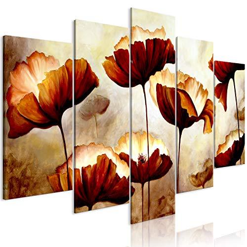 murando Quadro Fiori 225x112 cm Stampa su tela in TNT XXL Immagini moderni Murale Fotografia Grafica Decorazione da parete 5 parti come dipinto b-B-0339-b-m