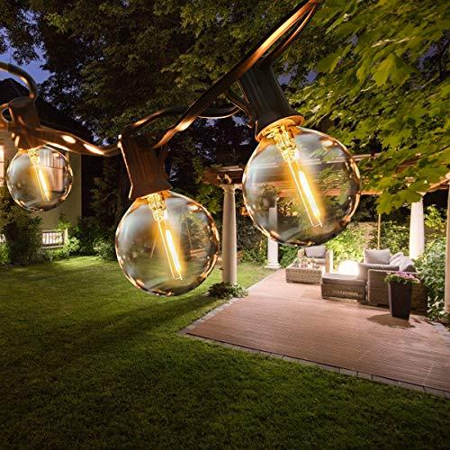 ROVLAK LED Catena Luminosa Esterno 9,5m/31ft G40 Catena Luci Stringa Giardino Impermeabile con 25...