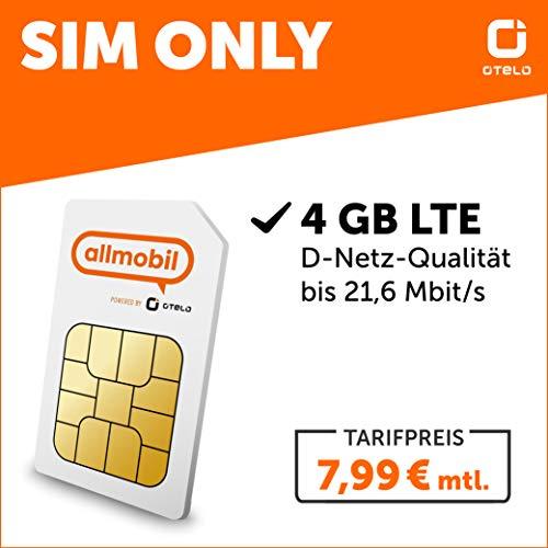 Otelo allmobil 4 GB LTE Allnet Flat SIM only