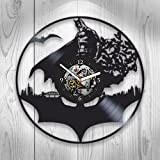 Batman Clock, Batman New Year Gift, Vinyl Wall Clock, Batman Xmas Gift For Boy, Wall Clock Large, Batman Gift For Kids, Batman Gift For Boy, Batman Gift For, Batman Birthday Gift For Boy