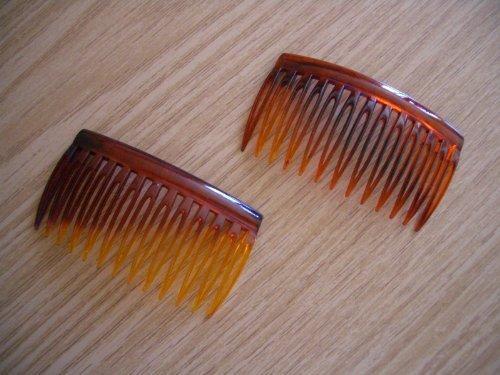 Barrette à Cheveux / Peigne Écailles de Tortue X2