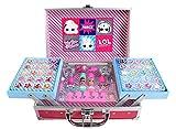 L.O.L. Surprise Train Case - Set de Maquillaje para Niñas - Moderno y Colorido con Maquillaje para Niñas, Kit de Manicura y Accesorios - Regalo para Niñas