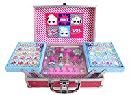 L.O.L. Surprise Train Case - Makeup Set for Kids - Trendy and Colourful Train Case with Makeup for G...