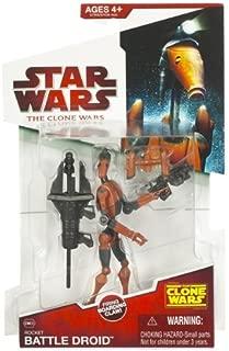 Star Wars 2009 Clone Wars Animated Action Figure Rocket Battle Droid (Jet Pack)