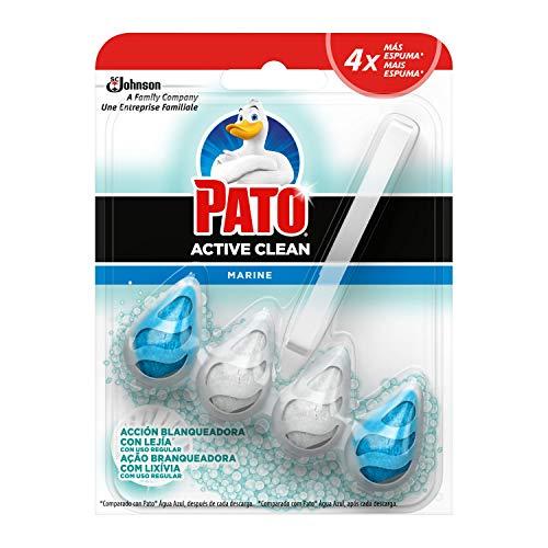PATOActive Clean Blanqueante - Colgador WC, Frescor Intenso, Perfuma, Limpia y Desinfecta, Aroma Océano