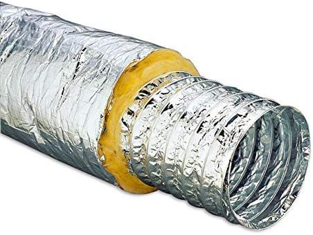 Thermoflex aluminium buis geluiddempend 510 meter 100 125 150 200 mm 100 mm 5M