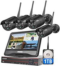 [8CH Expandable] Hiseeu Wireless Security Camera System with 10.1