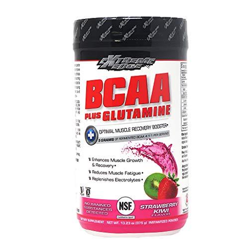 Bluebonnet Nutrition Extreme Edge Bcaa Glutamine Powder, Strawberry Kiwi, 13.23 Oz (Pack of 1)