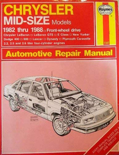 Chrysler mid-size front wheel drive owners workshop manual