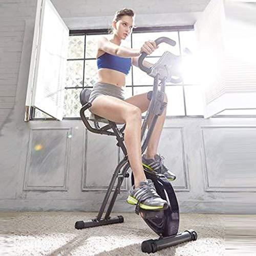 Cyclette Home Fitness Silenzioso Magnetic Bike Controllo, Pieghevole Spinning Bike Esercizio Aerobico Mini Fare Un Passo Perdita di Peso (Color : Black)