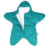 Saco de dormir para bebé, diseño de estrella de mar de invierno de algodón cálido, para recién nacido, cochecito, cama, bebé, 0 – 8 meses verde verde Talla:talla única