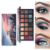 Leeharu Paleta de sombras de ojos Eyeshadow 18 colores Shiny/Matte/Sparkly Powder Pigment Texture Eye Shadow Beauty Makeup