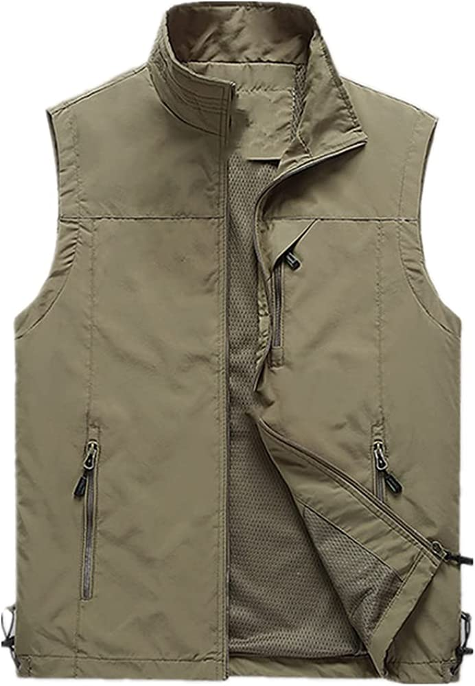 Man's Outdoor Vest Hiking Fishing shipfree Adults Spr Special sale item Size Waistcoat Plus