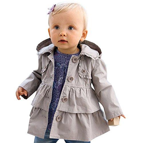 iEFiEL Baby-Mädchen Jacke, Babykleidung, Baumwolle Baby Mantel Frühling Übergangsjacke mit Kapuzen