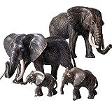 FLORMOON Figure Animali 4pcs Realistico Elefante Modello di Azione Plastica Animale Selvaggio Apprendimento Bomboniere per Feste educativo Foresta Giocattoli agricoli Regalo per Bambini