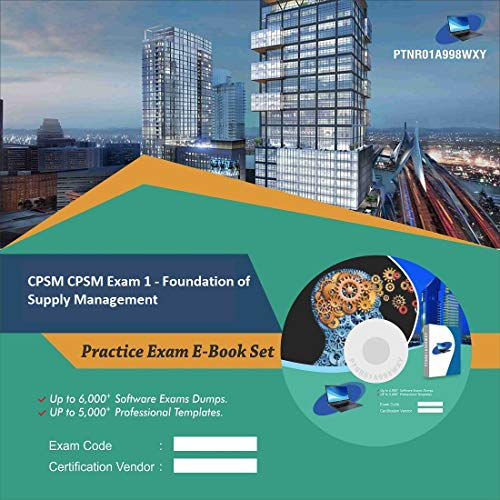 CPSM CPSM Exam 1 - Foundation of Supply Management Complete Video Learning Certification Exam Set (DVD)