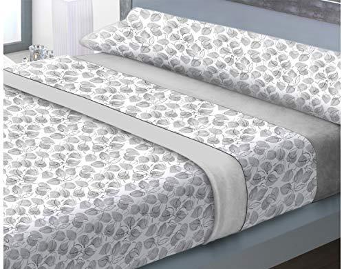 NH NOVOTEXTIL HOGAR Juego de sábanas de coralina 3 Piezas Varias Medidas,Modelos y Colores (Cama 105, Ottawa)