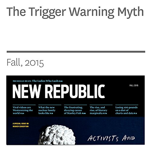 The Trigger Warning Myth audiobook cover art