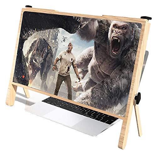 Soporte protector de la lupa de la pantalla del ordenador portátil 3D, soporte de soporte portátil plegable de 21 ', soporte de la pantalla de la computadora con diseño de ángulo ajustable, lupa de le